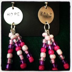 Www.facebook.com/karolinablissnc   Hand crafted jewelry  All breast cancer awareness items automatically donate $5 to breast cancer research.
