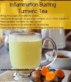 Inflammation reducing tumeric tea