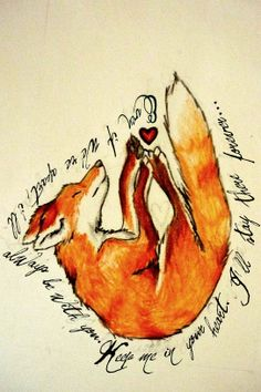 adorable n pretty Fox tattoo <333