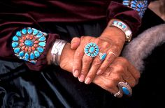 Navajo Jewelry - Turquoise and Silver
