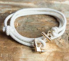 Nautical Anchor Bracelet #menswear #style #bracelet #accessories