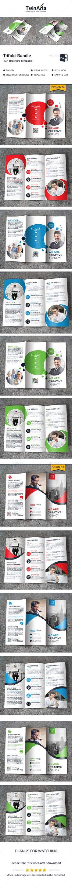 2 Trifold Brochure Templates PSD. Download here: https://graphicriver.net/item/trifold-bundle_2-in-1/17599849?ref=ksioks