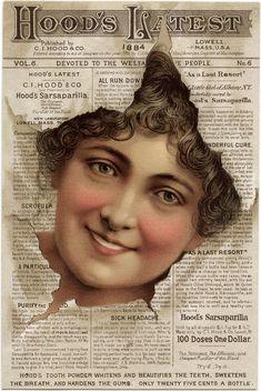 Hood's Sarsaparilla ~ Free Victorian Trading Card Image (the front)