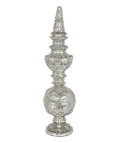 Take a look at this Mercury Glass Ornate 21'' Finial by Three Hands Corporation on #zulily today!