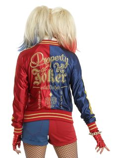 DC Comics Suicide Squad Harley Quinn Girls Bomber Jacket Pre-Order (7/19) | Hot Topic $79.90