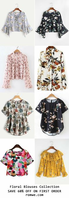 Summer Vacation - Floral Blouses Collection 2017 from - Hijab Fashion, Teen Fashion, Fashion Dresses, Womens Fashion, Fashion Trends, Casual Outfits, Girl Outfits, Summer Outfits, Cute Outfits
