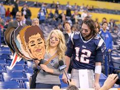 This guy is crazy for Tom Brady.