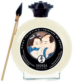 Peinture pour le corps Chocolat Blanc-Vanille Shunga 100 ml - Huiles de massage - my-sexshop.fr®