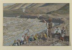 San Juan Bautista ve a Jesús a lo lejos / Saint John the Baptist Sees Jesus from Afar / Saint Jean-Baptiste voit Jésus de loin (Luke 3:7-16 John 1:29 John 1:36)