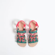 TRIBAL LACE-UP SANDALS from Zara
