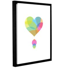 ArtWall Volkan Dalyan's 'Colors Of A Heart' Gallery Wrapped Floater-framed Canvas