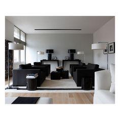 Living Room White l Shape Sofa And Modern Floor Lamp Modern L