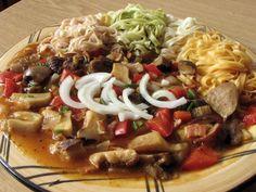 Fotoreceptárium - recepty z hub Pasta Salad, Spaghetti, Meat, Chicken, Cooking, Ethnic Recipes, Crab Pasta Salad, Kitchen, Noodle