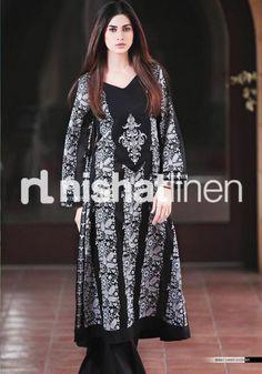 Nishat Linen lawn black