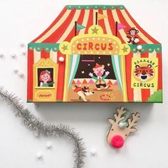 TLPAdventCalendar Door 23 is open! Step right up to see the show, We love spotting this colorful circus by @janodpolska on children's shelves! Perfect for any boy's room, girl's room or playroom!