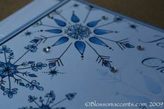 Winter Snowflake Wedding Invitation detail