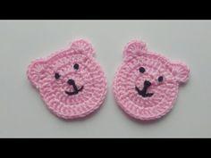 Making Crochet Teddy Bear Motif - Chambritas y manualidades - Crochet Baby Pants, Crochet Car, Knitted Baby Clothes, Crochet Teddy, Crochet Applique Patterns Free, Baby Knitting Patterns, Crochet Stitches, Hand Knitting, Stuffed Animal Patterns