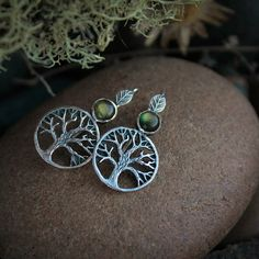 Amazing silver earrings with natural stone called labradorite are made for my new collection Nature of Siberia. Its completely handmade. Theyre