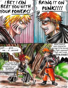 bleach and naruto funny