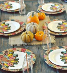 Fall decor ideas, Thanksgiving table decorations, Thanksgiving for kids via @frostedevents