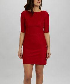 Look what I found on #zulily! Red Dress by Julia Jordan #zulilyfinds