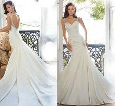 A-line Lace Wedding Dress with Off Shoulder Sleeves Vinter Brude Blonder Slim Tynn Folgende Brudekjole 39955764