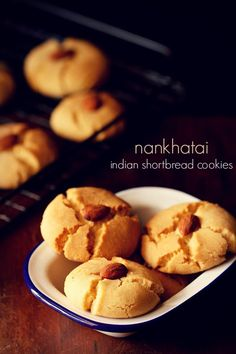 nankhatai recipe for diwali festival. step by step nankhatai recipe. nankhatai is a popular sweet cum snack recipe which is equally liked by kids as well as elders. Dessert Recipes For Kids, Indian Dessert Recipes, Sweets Recipes, Gourmet Recipes, Snack Recipes, Indian Sweets, Indian Recipes, Eid Sweets, Diwali Recipes