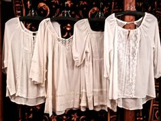 White flawy Peasant Tops with Lace and Crochet Details