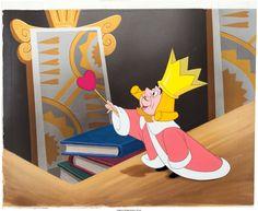 Alice in Wonderland King of Hearts Production Cel and Background Setup (Walt Disney, 1951)