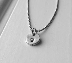 Letter g Necklace Tiny Initial Necklace Sample by GirlBurkeStudios #initialnecklace