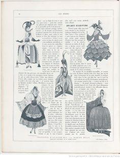 Les modes (Paris), January 1922. Fancy dress