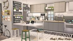 An archive With Over Sims 4 Custom Content Finds Sims House Plans, Kitchen Furniture, Sims House, Kitchen Design, Sims 4 Kitchen