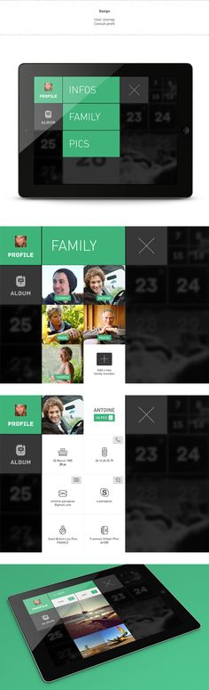 Family Pics by Clément Pavageau, via #Behance #Digital #UI #UX