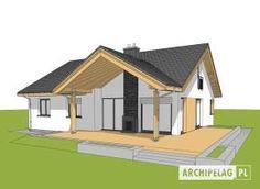 Eris II (wersja C) - projekt domu - Archipelag Bungalow House Plans, Bungalow House Design, Modern House Design, Gazebo, Shed, New Homes, Floor Plans, Outdoor Structures, How To Plan