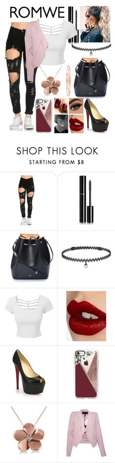"""""""Untitled #350"""" by telephone55 ❤ liked on Polyvore featuring Chanel, N°21, BERRICLE, LE3NO, Charlotte Tilbury, Christian Louboutin, Casetify, Allurez, BCBGMAXAZRIA and Harry Winston"""