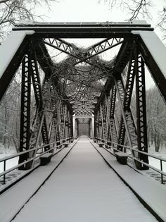 The bridge at Springtown Road in New Paltz at first snowfall in January 2015.