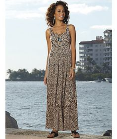 9613bdafe0 Shelf Bra Animal Maxi Dress