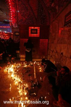 Shiite Mourners lighting candels in rememberance of martyrdom of Hussein #Karbala #Iraq #Photography