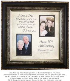 Check out Golden Anniversary Gift, Wedding Anniversary Gift, Wedding Gift for Parents Anniversary, 16 X 16 on photoframeoriginals 50 Wedding Anniversary Gifts, Anniversary Gifts For Parents, Anniversary Decorations, Marriage Anniversary, Anniversary Quotes, Gift Wedding, Handmade Wedding, Wedding Ideas, Wedding Trends