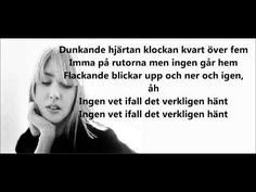 my favorite song by Swedish artist Veronica Maggio - with lyrics! if you've never really heard/seen the Swedish language, give it a try!