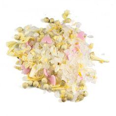Zur Hochzeit (Nachfüllpack) | 175g Würzmischung - eine liebevoll abgestimmte Mischung aus Meersalz und rosa Zuckerherzen. Würzig und romantisch. Zutaten: Meersalz 81%, Pfeffer weiß, Zuckerherzen 5,8% (Zucker, Reismehl, ERDNUSSöl, Kartoffelstärke, Aroma, Frucht- und Gemüseauszüge (rote Bete)), Knoblauch, Zwiebeln. Eine liebevoll abgestimmte Würzmischung aus Meersalz und rosa Zuckerherzen. Würzig und romantisch. Eine Mischung, die zu allem passt.