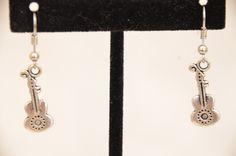 Handmade Dangle  Ukulele Earring Set ~  ~ Holiday Earrings ~  Guitar Earrings by DivinityBraid on Etsy
