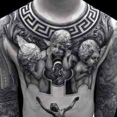 Angles With 3d Jesus Tattoo Designs For Guys On Chest