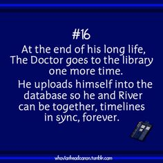 This CANNOT happen. Because 1.) it would  mean that Doctor Who is over which would be terrible. And 2.) because as much as I love River, she is not Rose and the Doctor may love River but not the way he loved Rose, not in the beautiful, adorable, too-incredible-for-words way that he and Rose were in love.