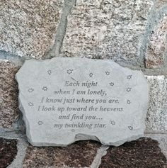 Each night when I am lonely… Garden Accent Stone – ChristianGiftsPlace.com Online Store