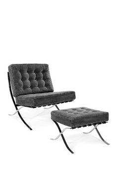 Dallas Black Chair and Ottoman