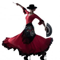 One Woman Gypsy Flamenco Dancing Dancer On Studio Isolated White.. Royalty Free Stock Photo, Pictures, Images And Stock Photography. Image 16299794.