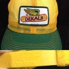 Vintage Dekalb NOS NWOT Farm Seed Patch Trucker Hat K-Products USA Mesh Cap #KProducts