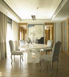 Ideas de #Comedor, estilo #Contemporaneo color  #Marron,  #Blanco,  #Gris, diseñado por Camino Esteban  #CajonDeIdeas