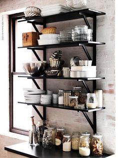 Ikea Livet Hemma {black and white scandinavian modern kitchen}